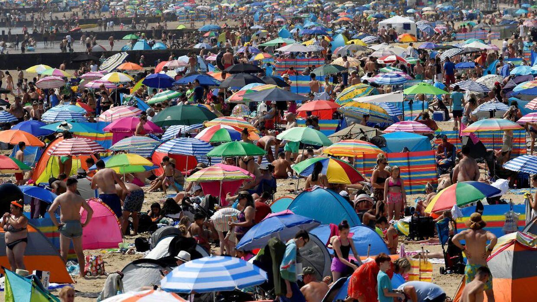Stranden i Bournemouth, fredag d. 31. juli.