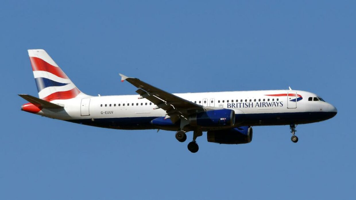Et Airbus A320-fly fra British Airways.
