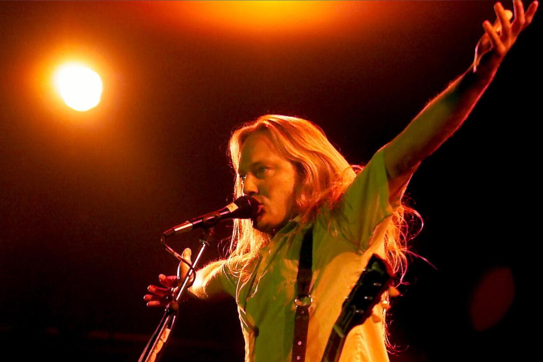 I sommeren i 2000 spillede D-A-D og Jesper Binzer på festivalen Smukfest i Skanderborg. Bandet har optrådt på den jyske festival et hav af gange - senest i 2018 (Arkivfoto). Thomas Sjørup/Ritzau Scanpix
