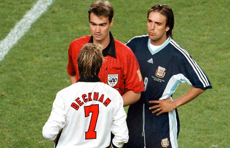 Kim Milton gav David Beckham det røde kort i VM-ottendedelsfinalen mellem England og Argentina i 1998.