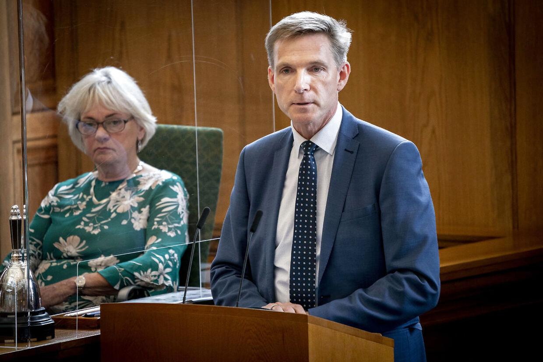 Kristian Thulesen Dahl (DF) taler under afslutningsdebat i Folketinget på Christiansborg i København, mandag 22. juni 2020. (Foto: Mads Claus Rasmussen/Ritzau Scanpix)