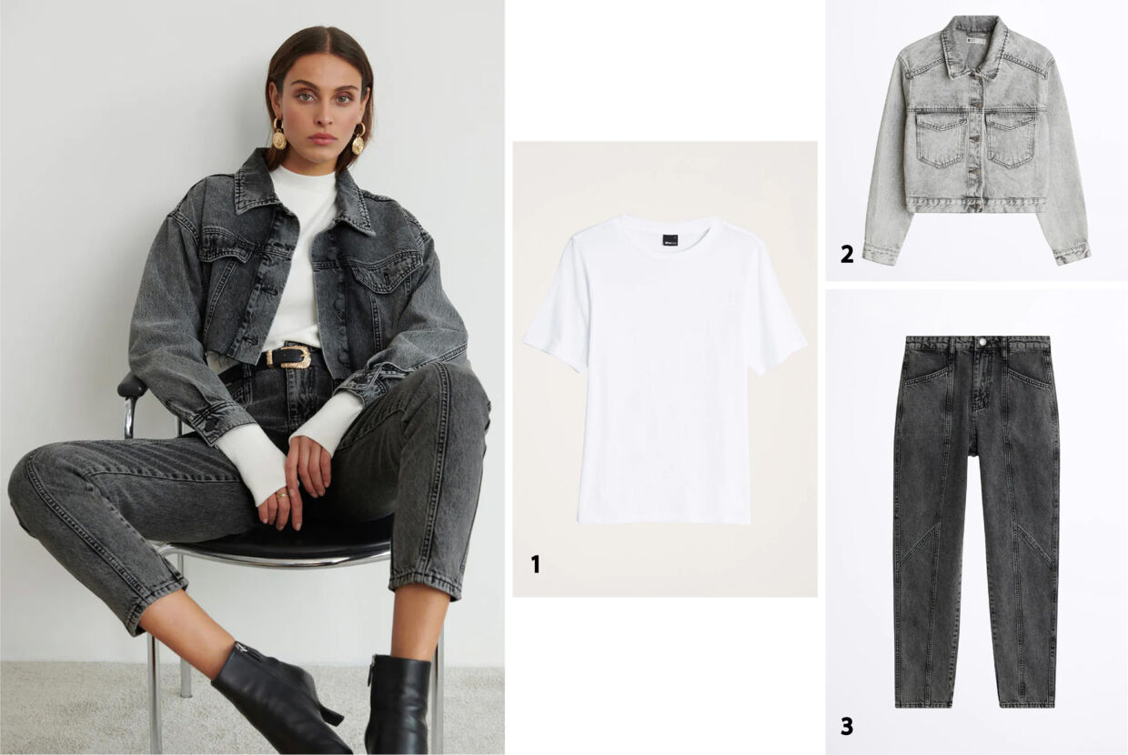 9. Styling: Det mørke denim look.