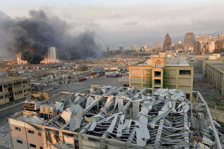 Trykbølgen fra eksplosionen smadrede store dele af Beirut.