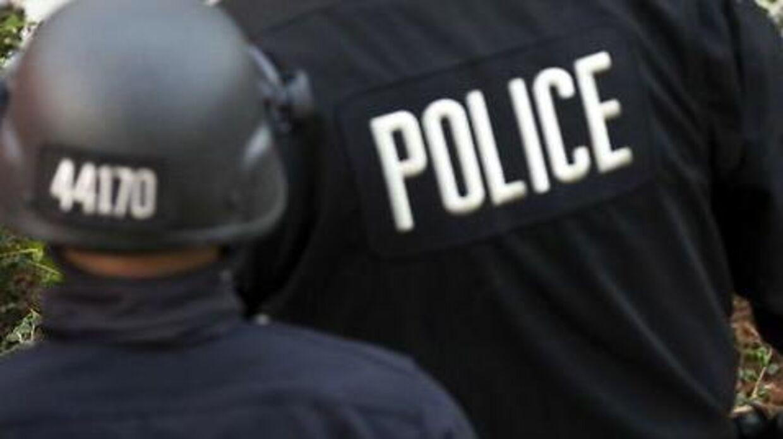 Arkivfoto af politi fra Los Angeles.