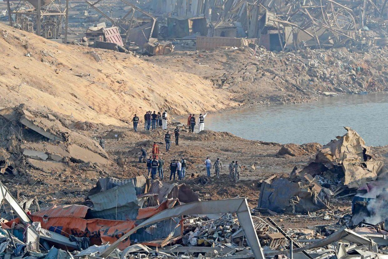 Skaderne efter eksplosionerne beløber sig til mange milliarder kroner. AFP.