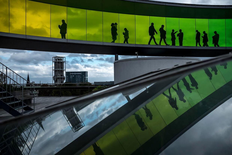 Taget på ARoS er blevet verdenskendt for installationen Your Rainbow Panorama.