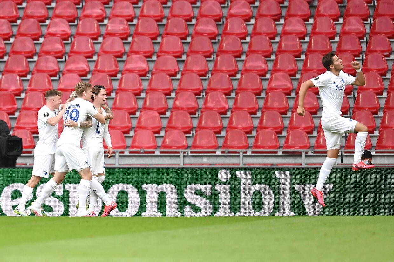 Fodboldkampen mellem FC København og Istanbul Basaksehir i Europa League 1/8-finale returkampen i Telia Parken i København onsdag den 5. august 2020.