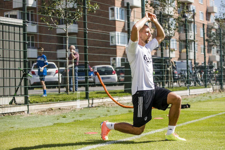 Kamil Wilczek under dagens træning på Frederiksberg.