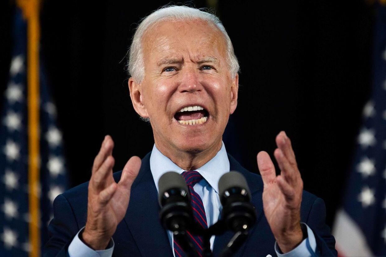 Joe Biden holder tale i staten Pennsylvania.