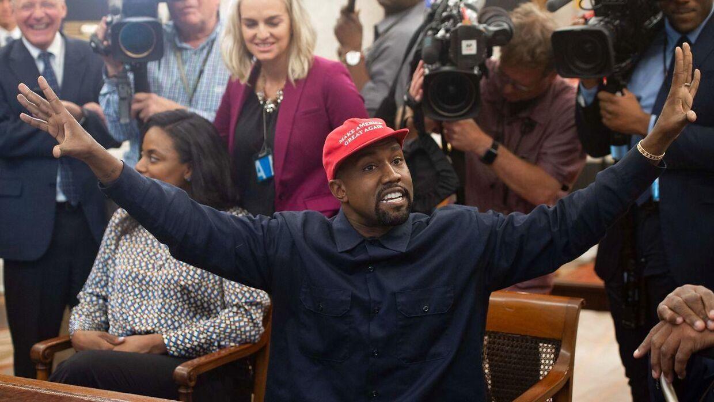 Kanye West i Det Hvide Hus i 2018.