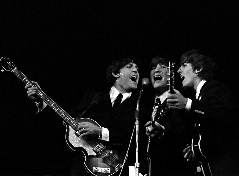 Ikke Trump-fans. The Beatles – med George Harrison yderst til højre.