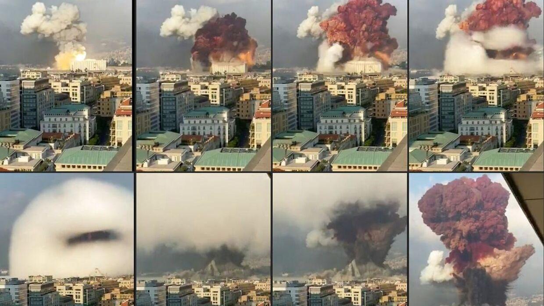 Her ses eksplosionen. (Foto: -/Ritzau Scanpix)