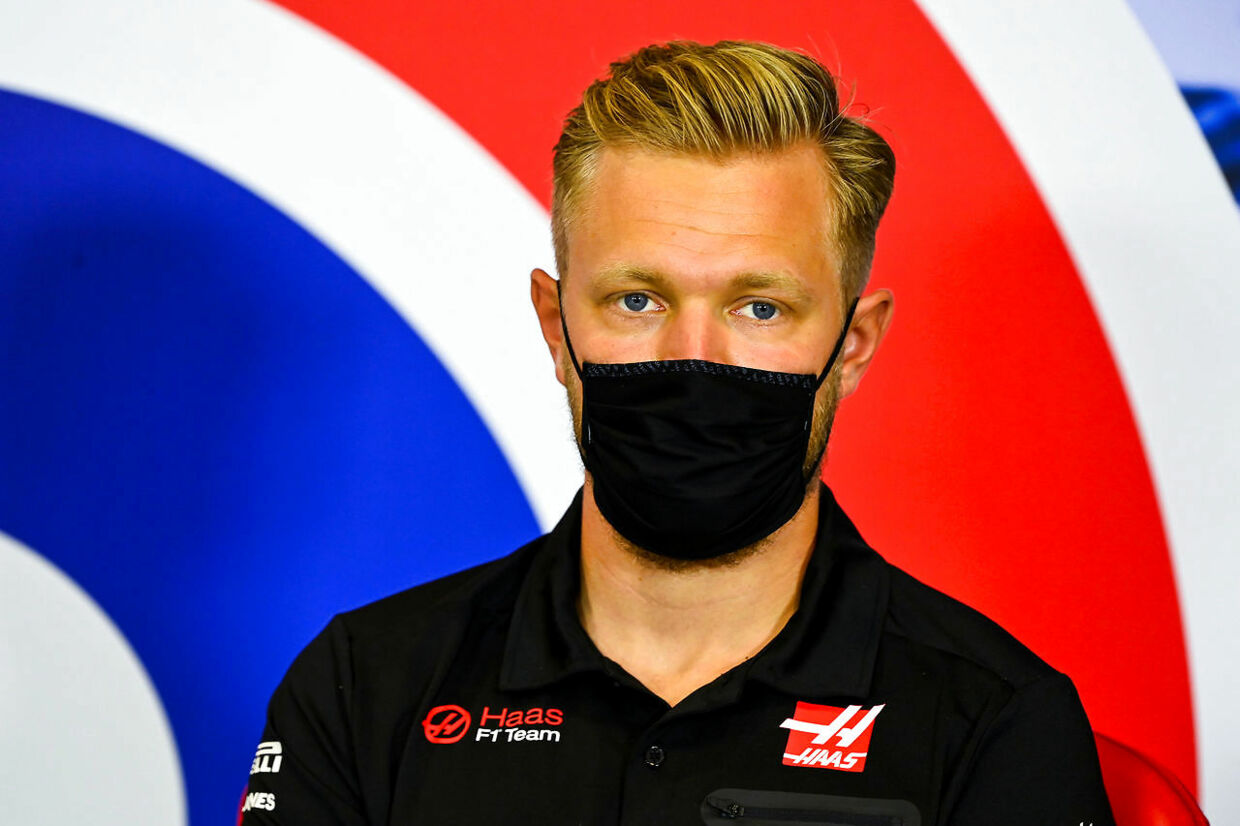 Formula One F1 - 70th Anniversary Grand Prix - Silverstone Circuit, Silverstone, Britain - August 6, 2020 Haas' Kevin Magnussen during a press conference ahead of the 70th Anniversary Grand Prix FIA/Handout via REUTERS ATTENTION EDITORS - THIS IMAGE HAS BEEN SUPPLIED BY A THIRD PARTY.NO RESALES.NO ARCHIVES