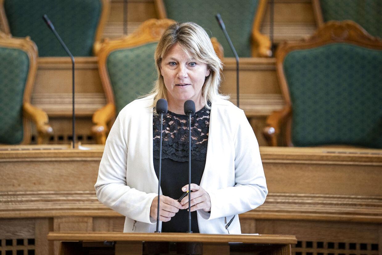 Dansk Folkepartis Pernille Bendixen til ministrenes spørgetid i Folketingssalen, onsdag den 6. maj 2020.. (Foto: Niels Christian Vilmann/Ritzau Scanpix)