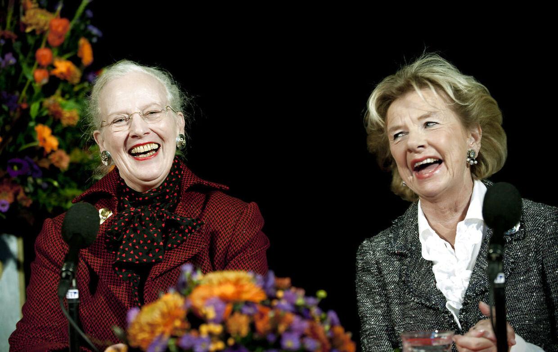 ARKIVFOTO af Susanne Heering og Dronning Margrethe.