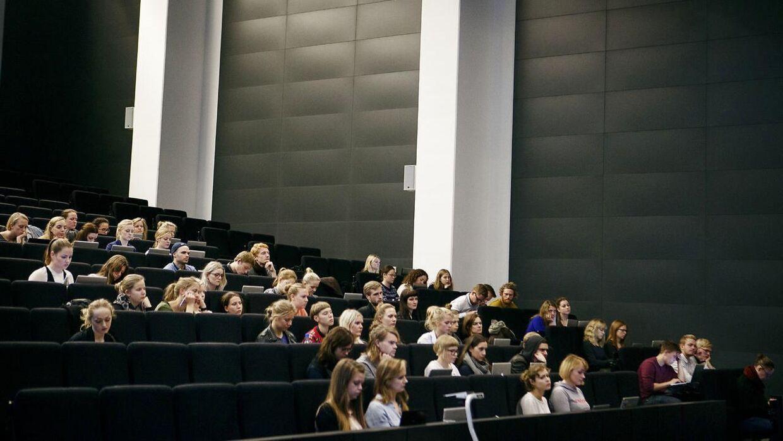 Forelæsningslokale på Københavns Universitet