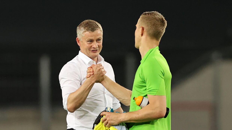 Der var roser fra United-manager Ole Gunnar Solskjær til FCK-keeperen.