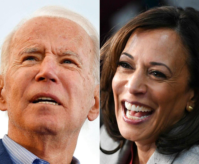 Joe Biden og hans nye vicepræsidentkandidat Kamala Harris.