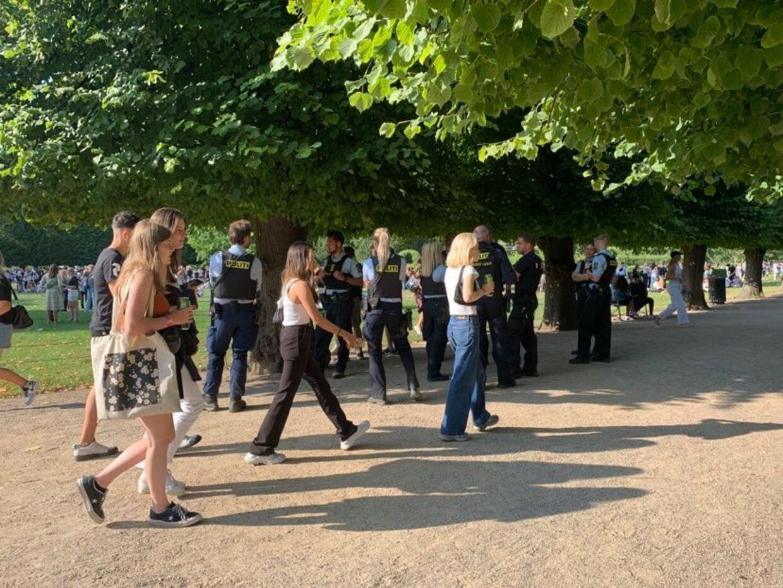 Betjente til stede i Kongens Have onsdag eftermiddag