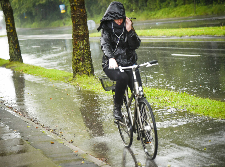 Regnvejr over Aarhus