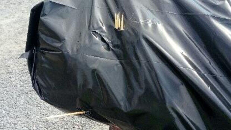 Skraldemændene støder også på grillspyd.