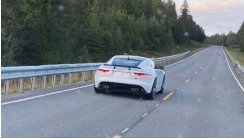 Det var i denne bil, Petter Northug kørte langt over hastighedsgrænsen.