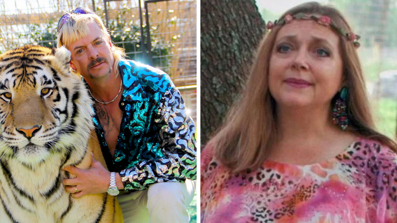 Joe Exotic og Carole Baskin.