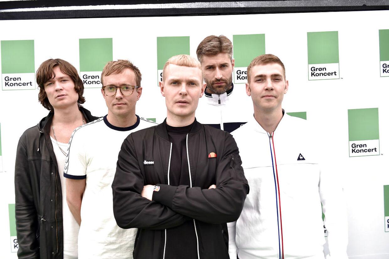Bandet The Minds of 99 ankommer til pressemøde på årets Grønne Koncerter i Peter Lieps Hus i Klampenborg torsdag d. 8 juni 2017. (Foto: Sarah Christine Nørgaard/Scanpix 2017)