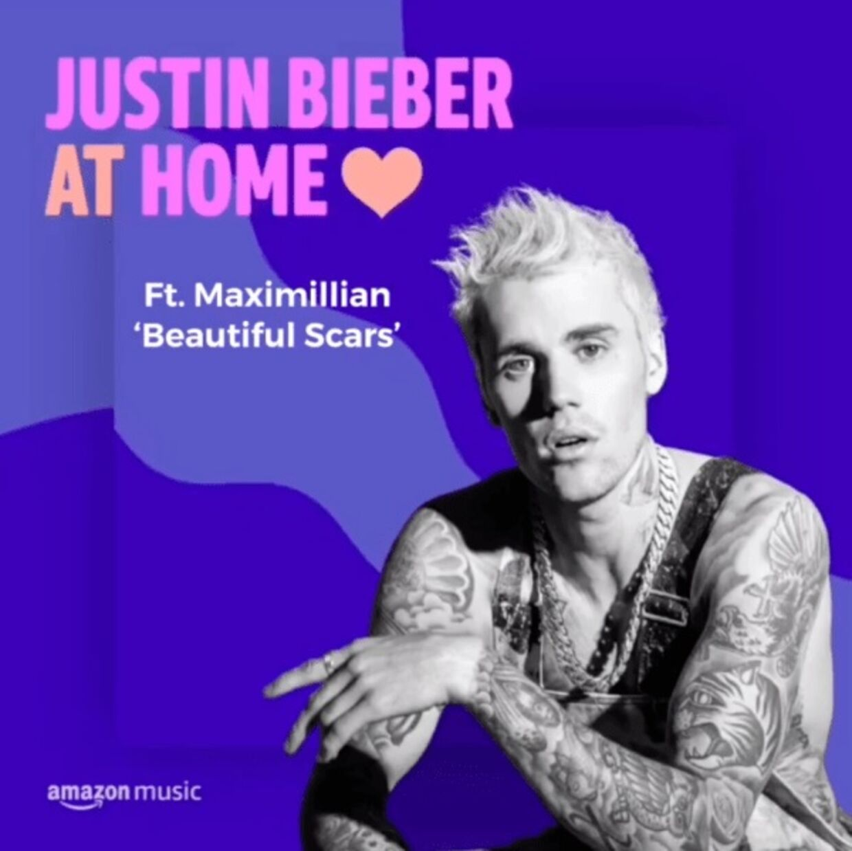 Justin Bieber placerede i foråret Maximillians nummer 'Beautiful Scars' på sin Amazon Music 'Stay at home'-playliste.