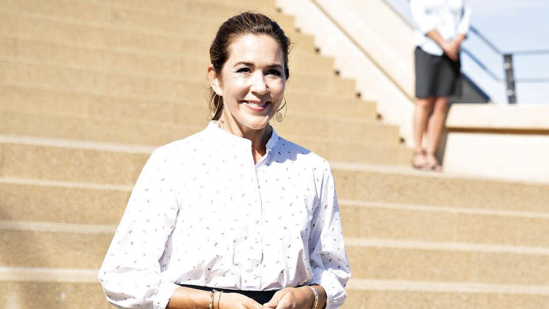 Kronprinsesse Mary fotograferet i Grenaa i sidste uge.