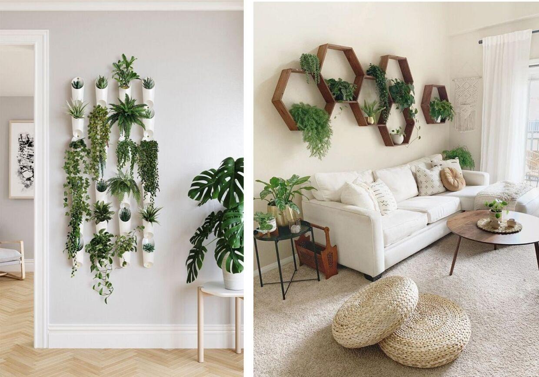 Brug planterne kreativt i dit hjem. Lav f.eks. en kollage med dem på din væg og brug dem i stedet for en plakat i din indretning.1) Skab boheme stil med planter2) Brug dine planter som plakat
