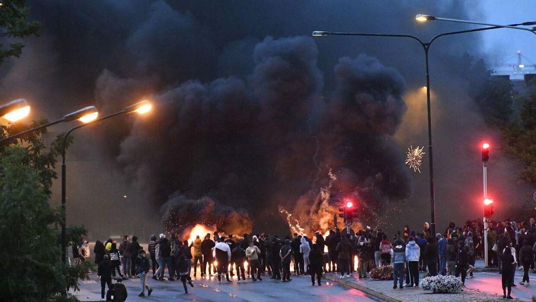 Sådan så urolighederne i Malmø ud