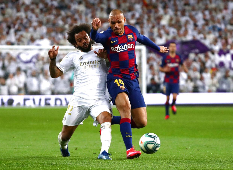 Martin Braithwaite kom på banen i ligaopgøret mod Real Madrid i løbet af forået.