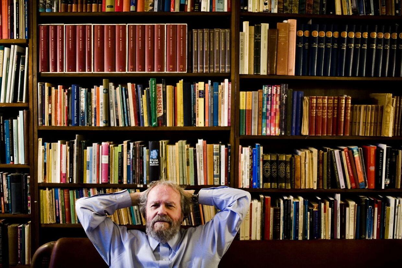 Bøger – egne og andres – var livsnerven i Johannes Møllehaves liv.