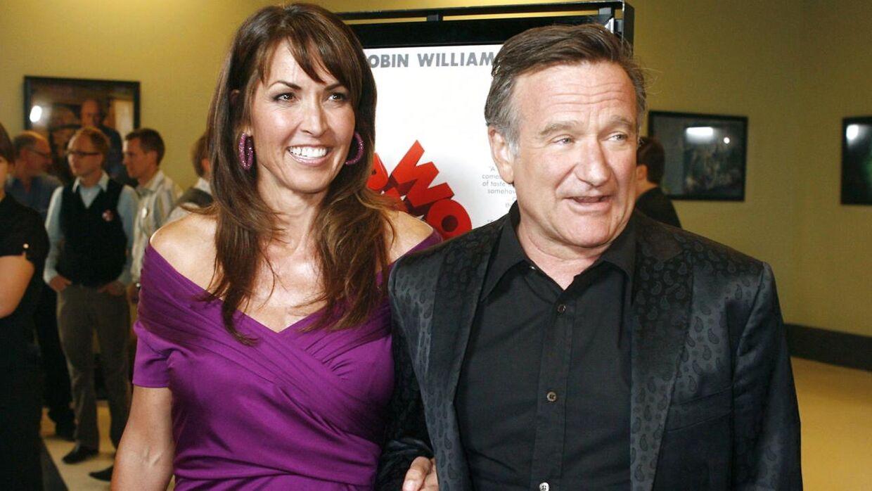 Robin Williams og Susan Schneider Williams.