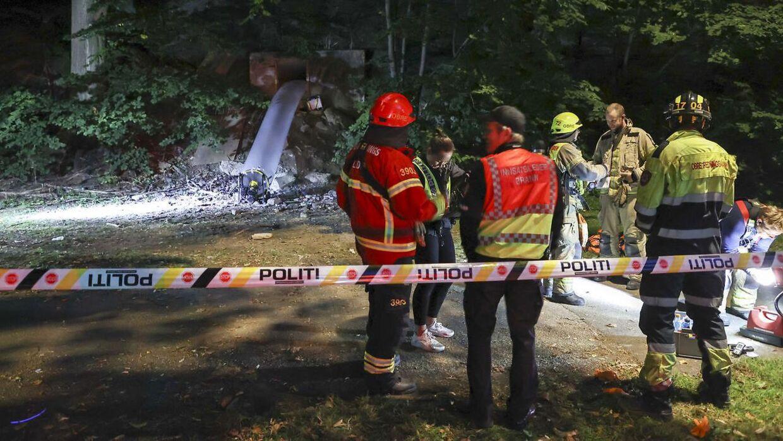 Bunkerfest i Norge, hvor politiet måtte komme de unge til undsætning.