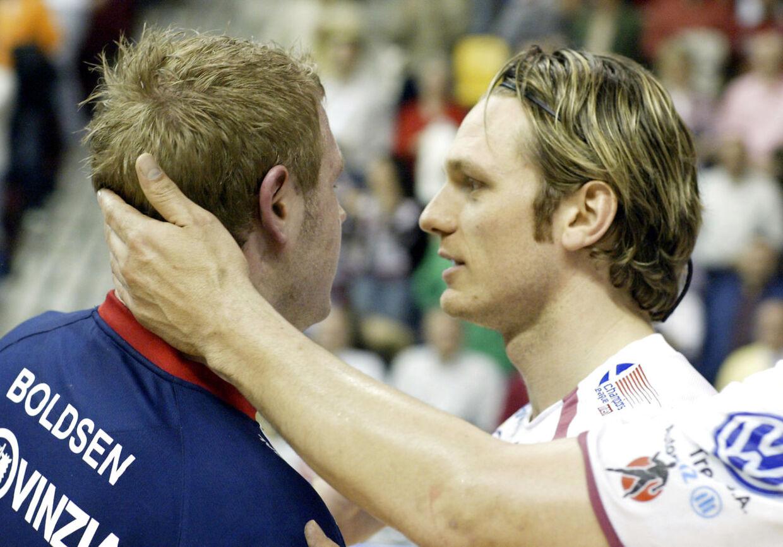 Claus Møller Jakobsen opnåede de største resultater i sin karriere i Ciudad Real. Her ses han i 2006 efter en semifinale mod Joachim Boldsen og Flensburg-Handewitt.