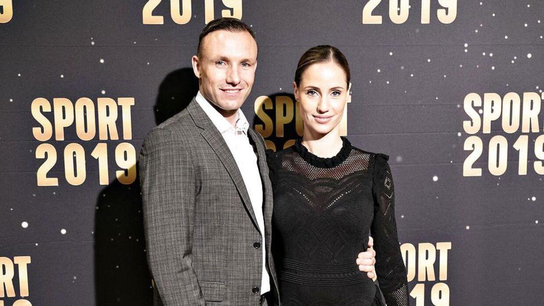 Mikkel Kessler sammen med konen Lea Hvidt Kessler.