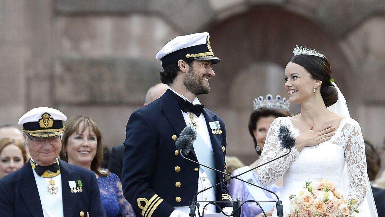 Prinsesse Sofia og prins Carl Philip blev gift i Stockholm i 2015.