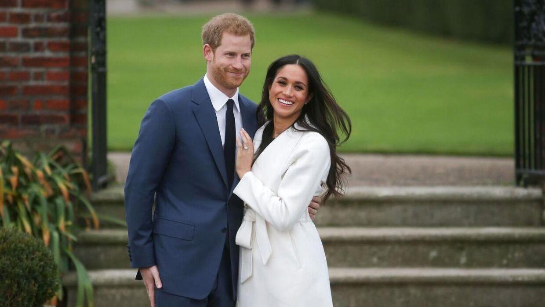Sådan så det ud, da Harry og Meghan blev forlovet i 2017. Mindre end tre år var de trådt ud af kongehuset.