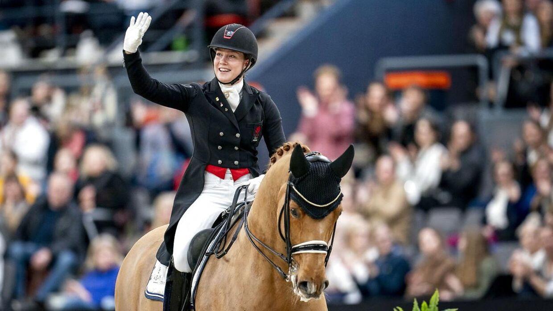 Cathrine Dufour og hesten Atterupgaards Cassidy (ARKIVFOTO).