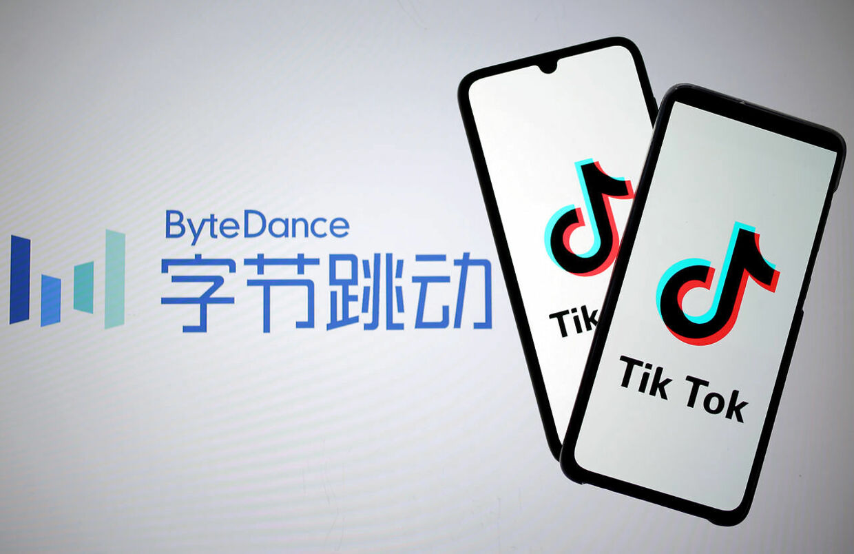 FILE PHOTO: Tik Tok logos are seen on smartphones in front of a displayed ByteDance logo in this illustration taken November 27, 2019. REUTERS/Dado Ruvic/Illustration - RC2OJD9AMEJB/File Photo