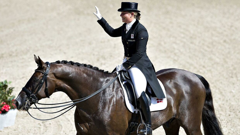 Anna Kasprzak og hesten Donnperignon.