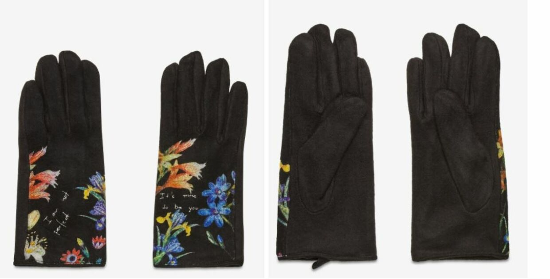 Desigual handsker med blomsterprint