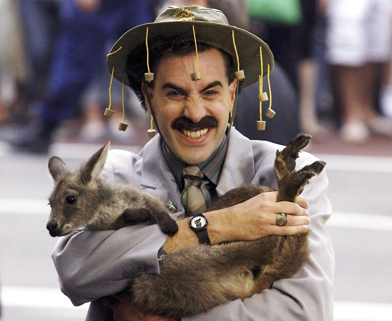 Sacha Baron Cohen ankommer til den australske premiere på filmen 'Borat'.