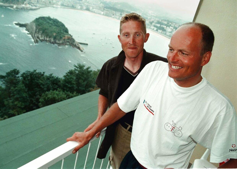 Brian Holm og Bjarne Riis.