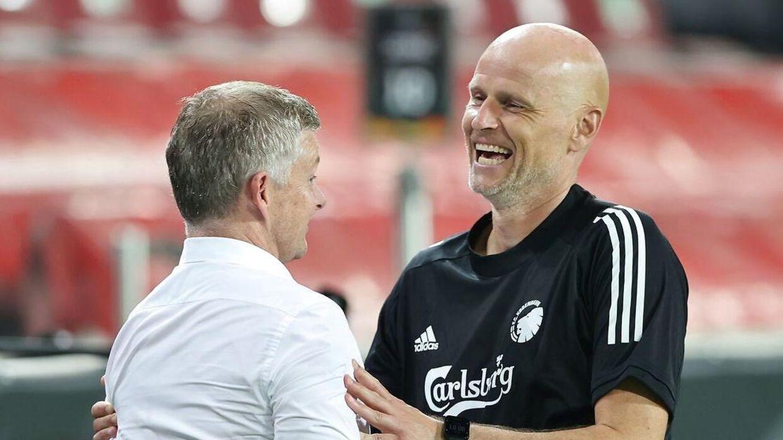 Ståle Solbakken kan sagtens se efter forstærkninger til FCKs nuværende trup. (Photo by WOLFGANG RATTAY / various sources / AFP)