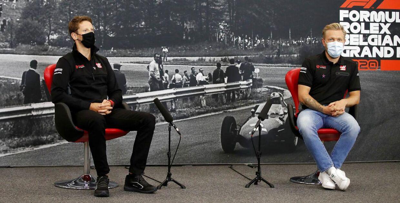 Kevin Magnussen og Romain Grosjean sidder usikkert i sædet hos Haas. (FIA/Handout)