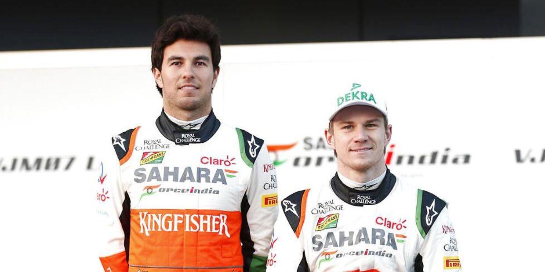 Sergio Perez og Nico Hülkenberg har tidligere været teamkammerater hos Force India. Det kan ske igen hos Haas. (SPORT MOTORSPORT)