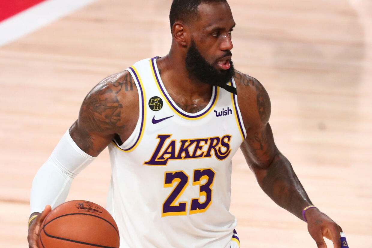 Den tredobbelte NBA-vinder LeBron James scorede 29 point lørdag for Lakers. Kim Klement/Ritzau Scanpix